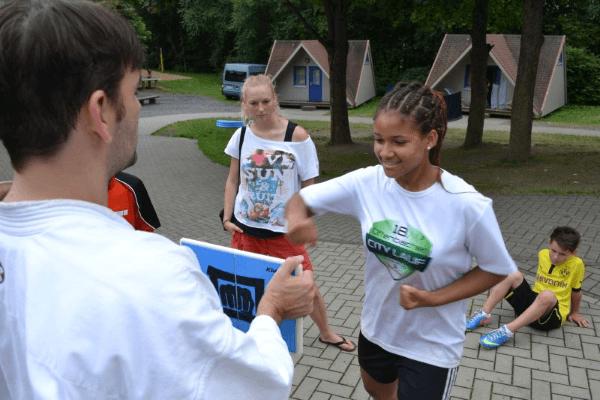 Kampfsport für Kinder in dem Feriencamp