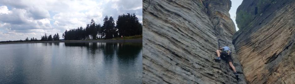 See und Kletterwand