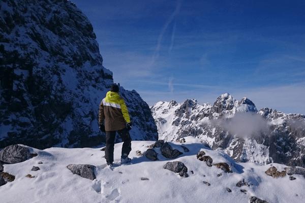 schöner Ausblick in der Skifreizeit oder dem Snowboard Camp