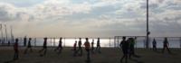 Blick auf Strandpromenade