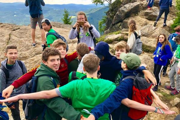 Gruppenfoto beim Wandern