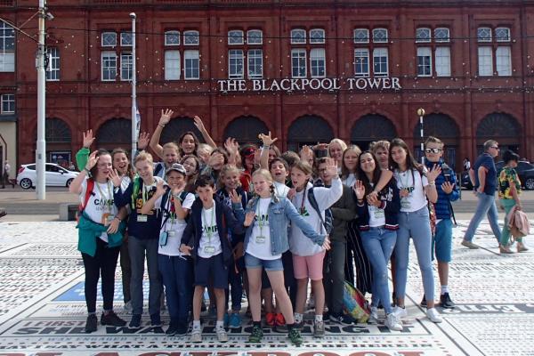 Gruppenfoto im Sprachcamp
