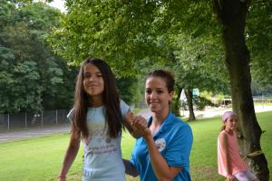 Slacklining im Feriencamp