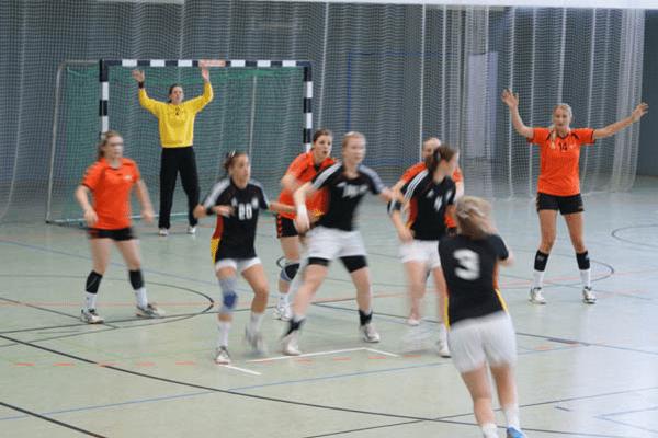 Kinder beim Handball
