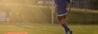 Fußballschuss auf das Tor