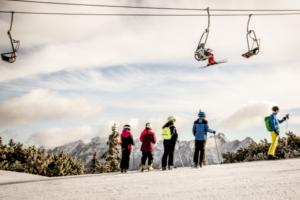 Skilift im Skiegebiet