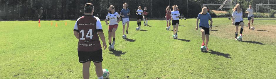Mädchen beim Training