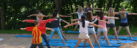 Yoga im Camp