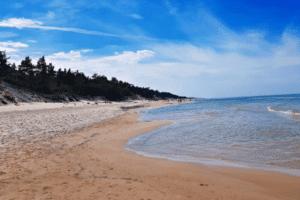 Strand der Ostsee bei den Feriencamps in Polen
