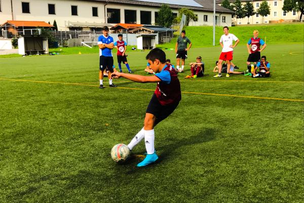 Fußballspieler in Aktion