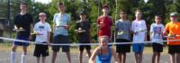 Gruppenfoto Volleyballnetz