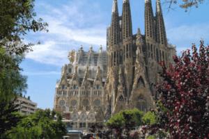 Die römisch-katholische Basilika Sagrada Família in Barcelona