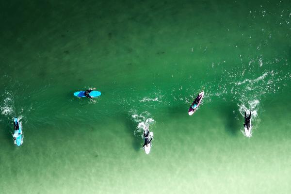Neue Freunde im Surfcamp