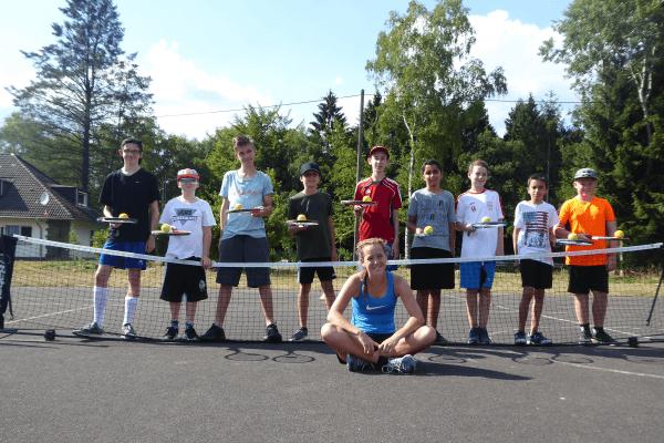 Teilnehmer des Tennis Camps