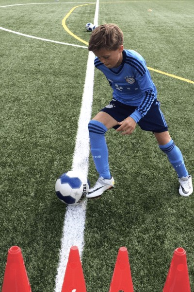 Fintentraining im Fußballcamp