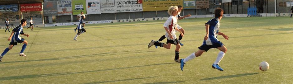 beim Fußball in Spanien