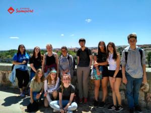 Gruppenfoto Sprachreise Spanien - Salamanca