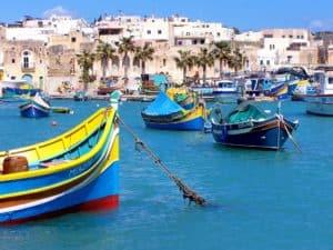Der malerische Hafen der Hauptstadt Valletta